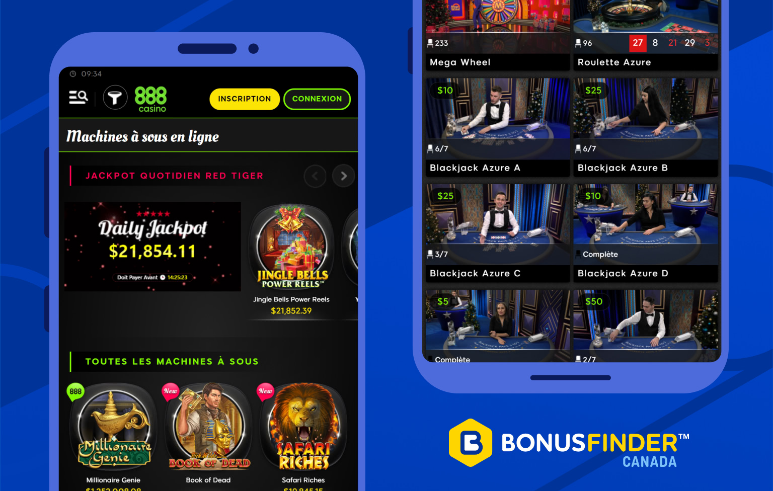 888 casino jeux