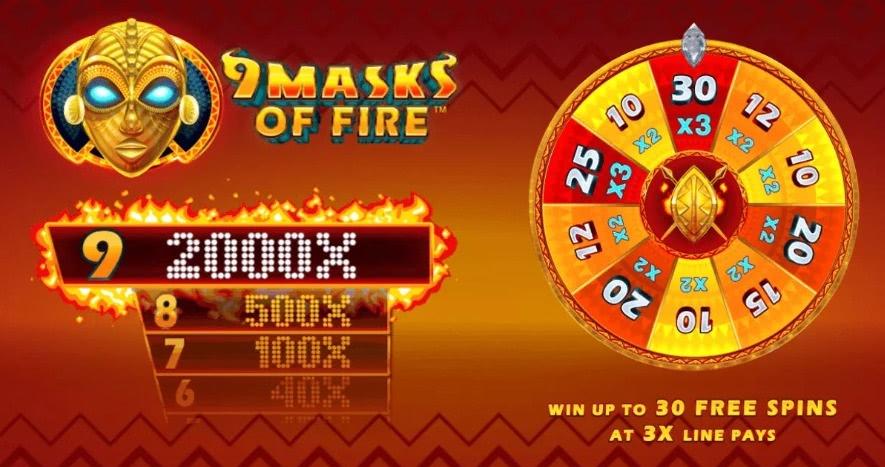 9 masks of fire tour bonus
