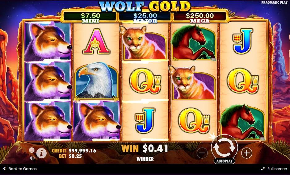 bonus sans condition wolf gold