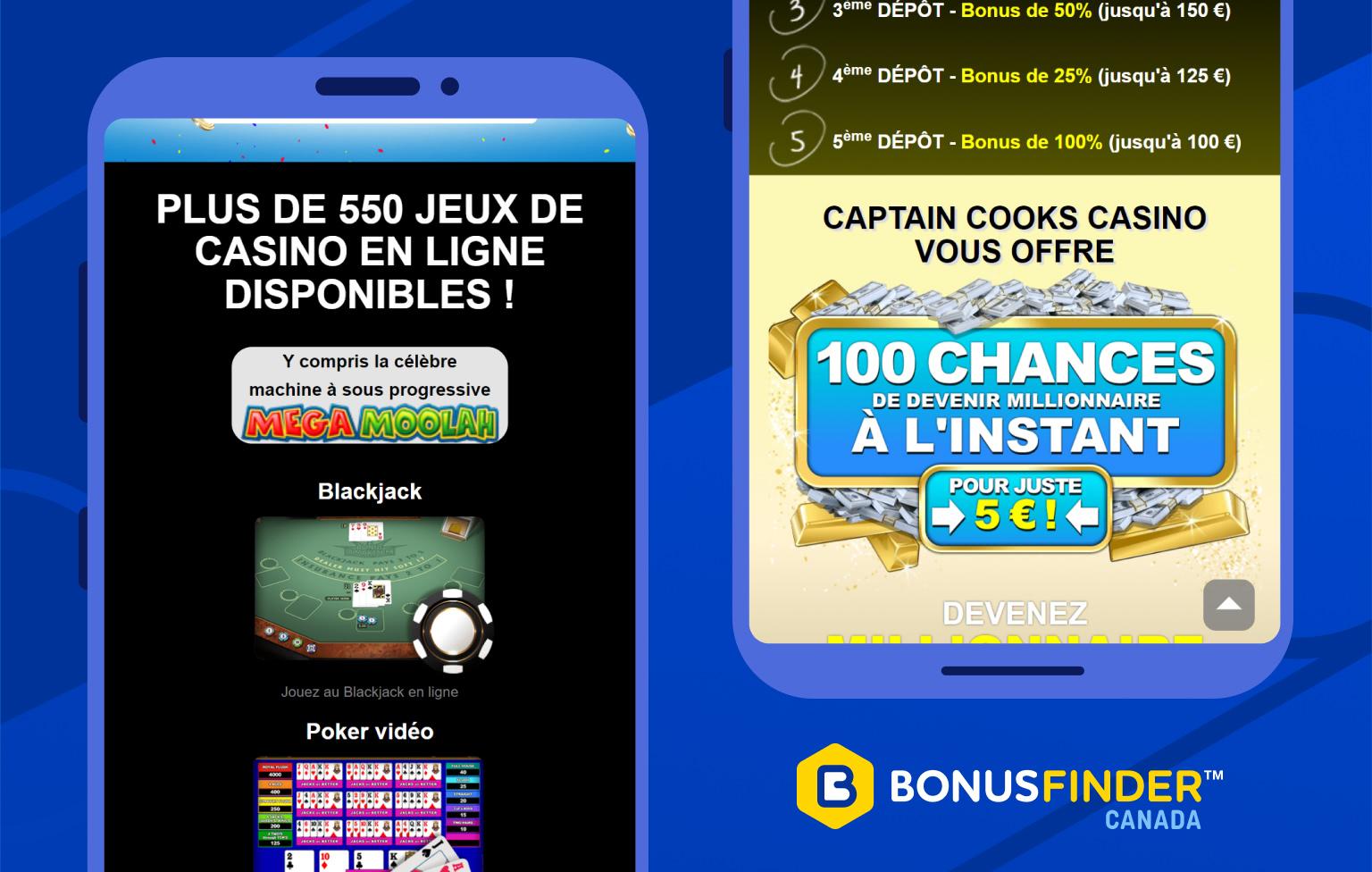 captain cooks casino jeux