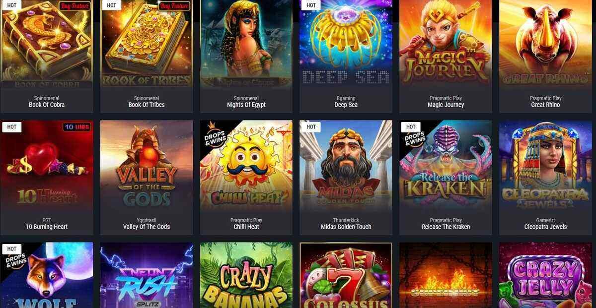 cobra casino jeux