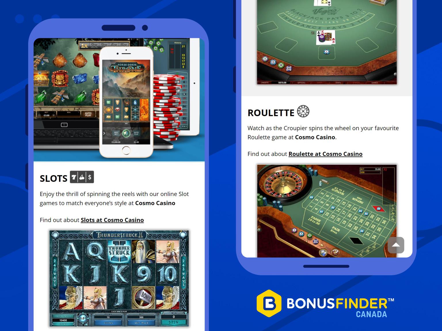 cosmo casino jeux