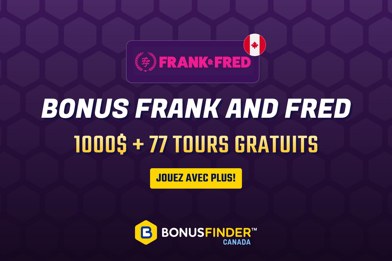 frank fred casino bonus
