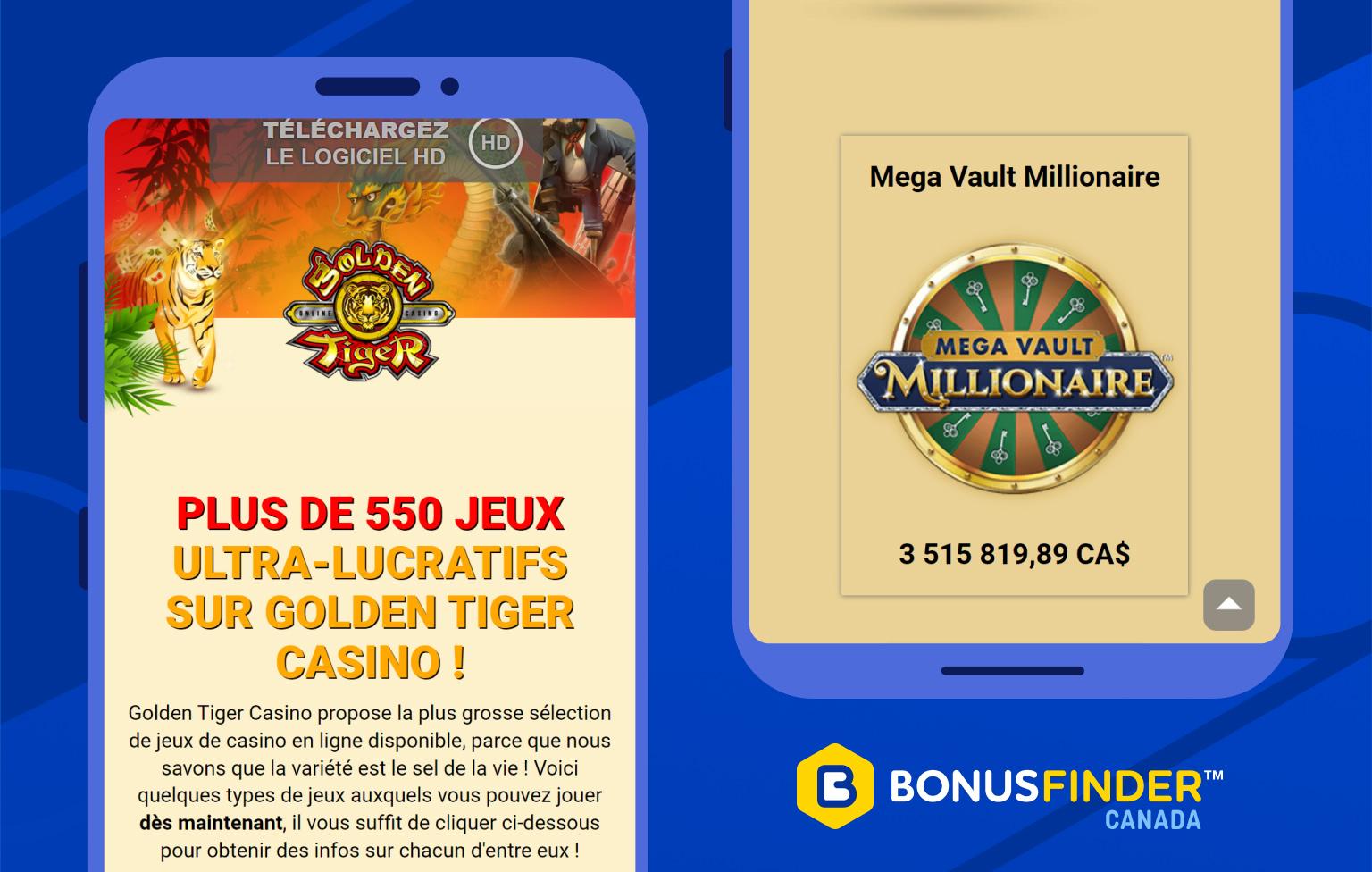golden tiger casino jeux