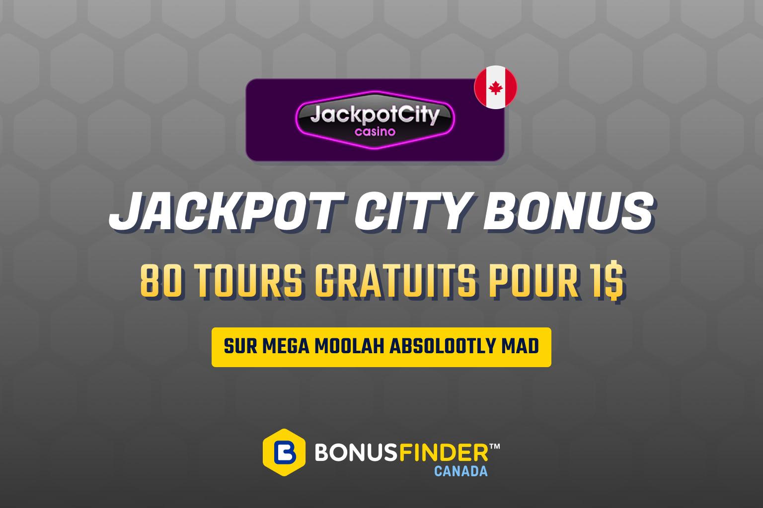 jackpot city bonus 1$