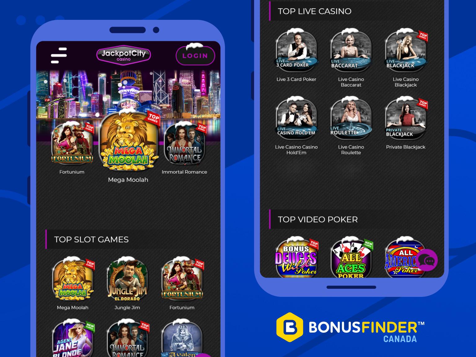 jackpot city casino jeux