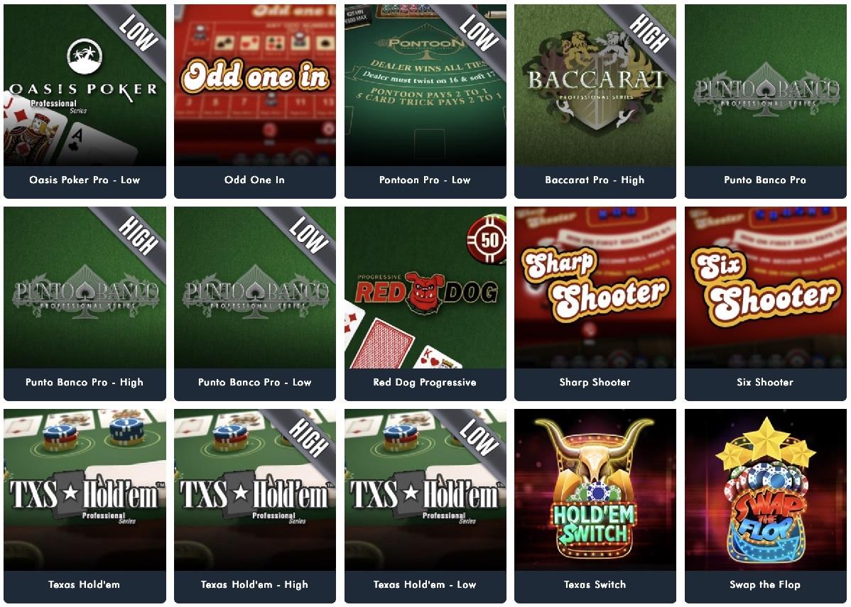 les jeux de table jonny jackpot