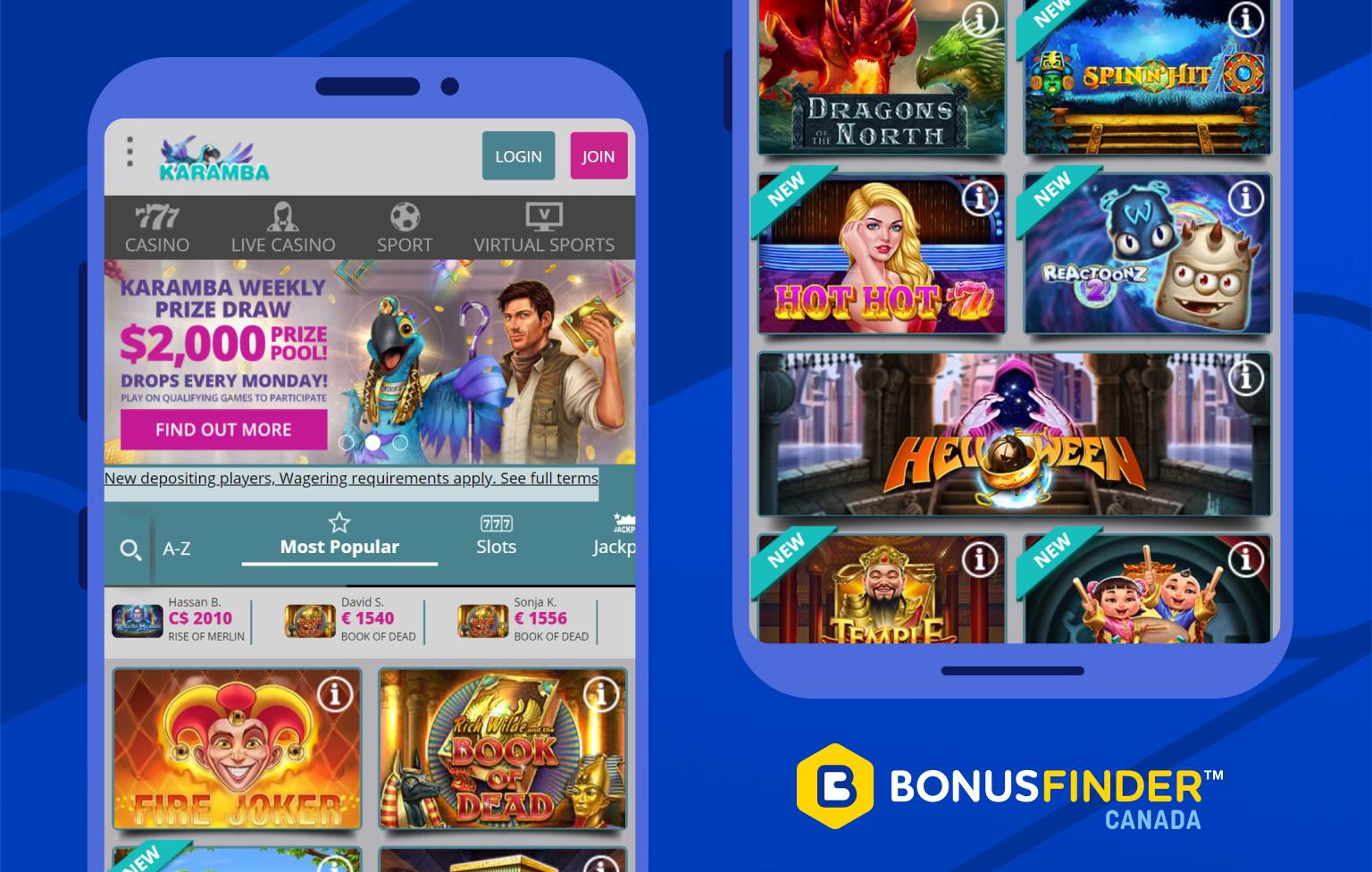 karamba casino jeux