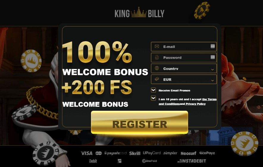 king billy bonus