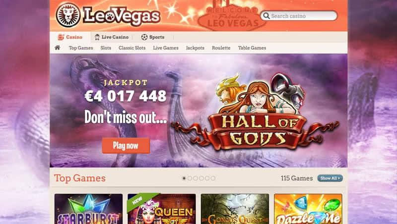 LeoVegas bonus casino