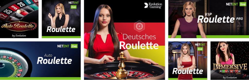 versions de roulette live
