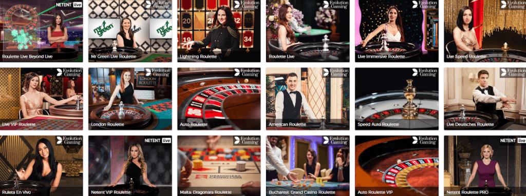roulette live casino