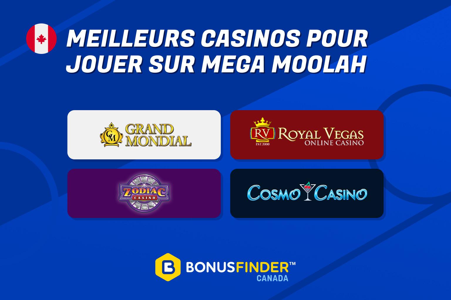 mega moolah casinos