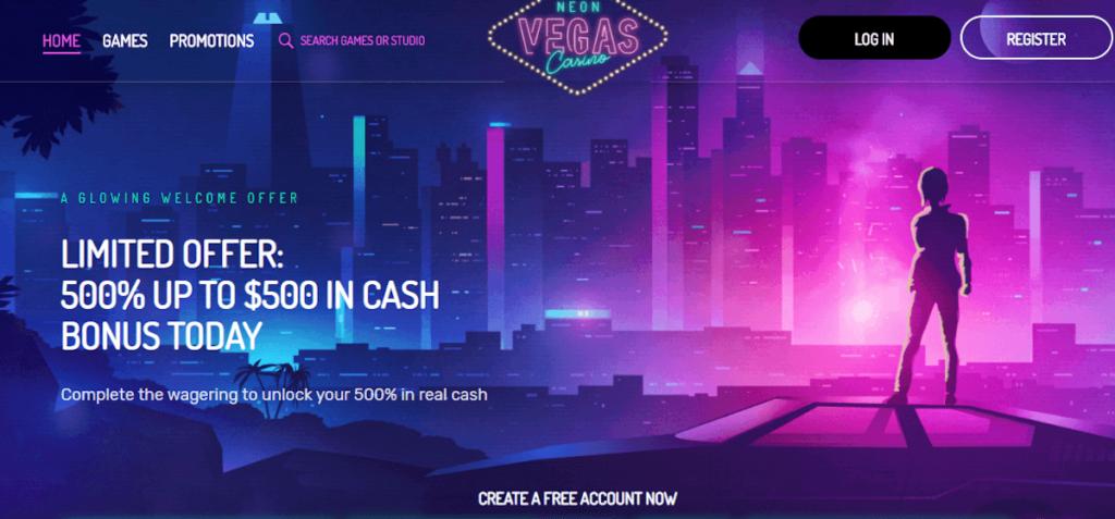 neon vegas bonus