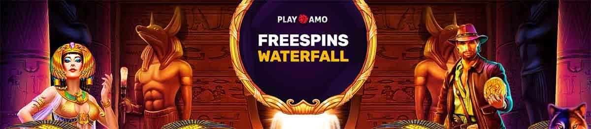 playamo freespins waterfall promo