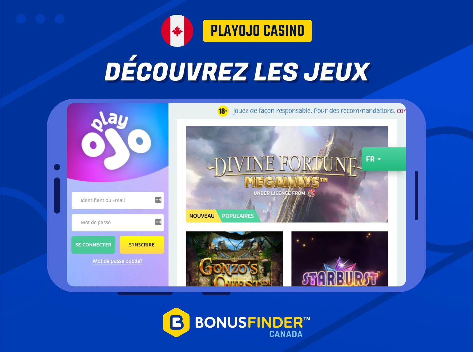 playojo casino jeux