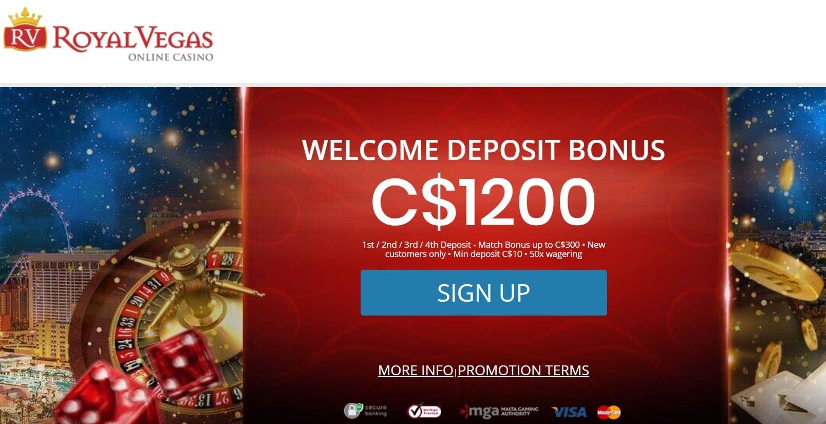 Royal Vegas Casino Scratch2Win Bonus Promotion