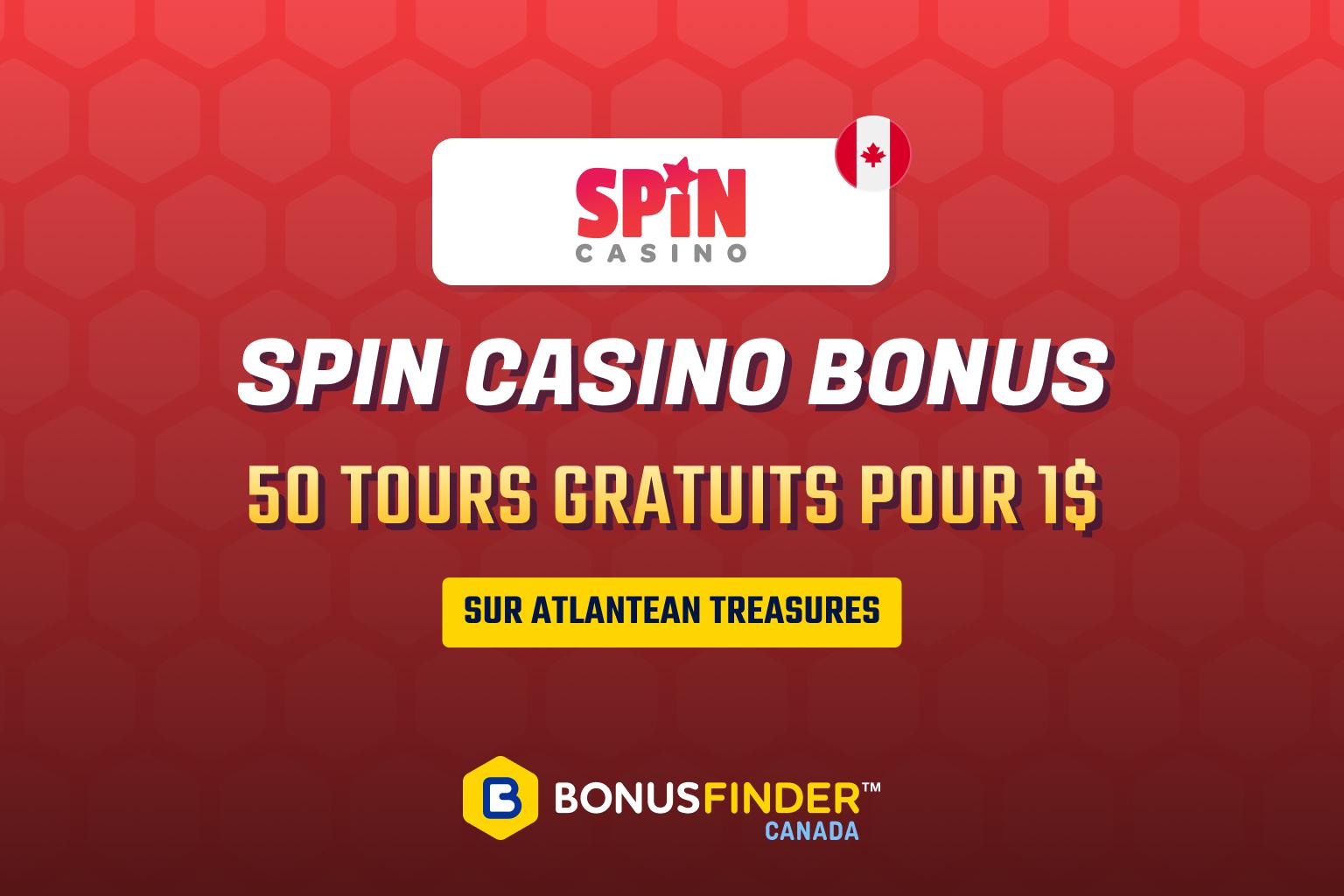 spin casino bonus 1$