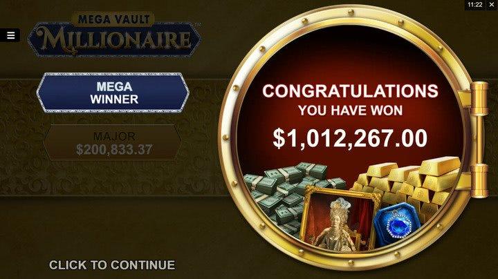 victoire mega vault millionnaire