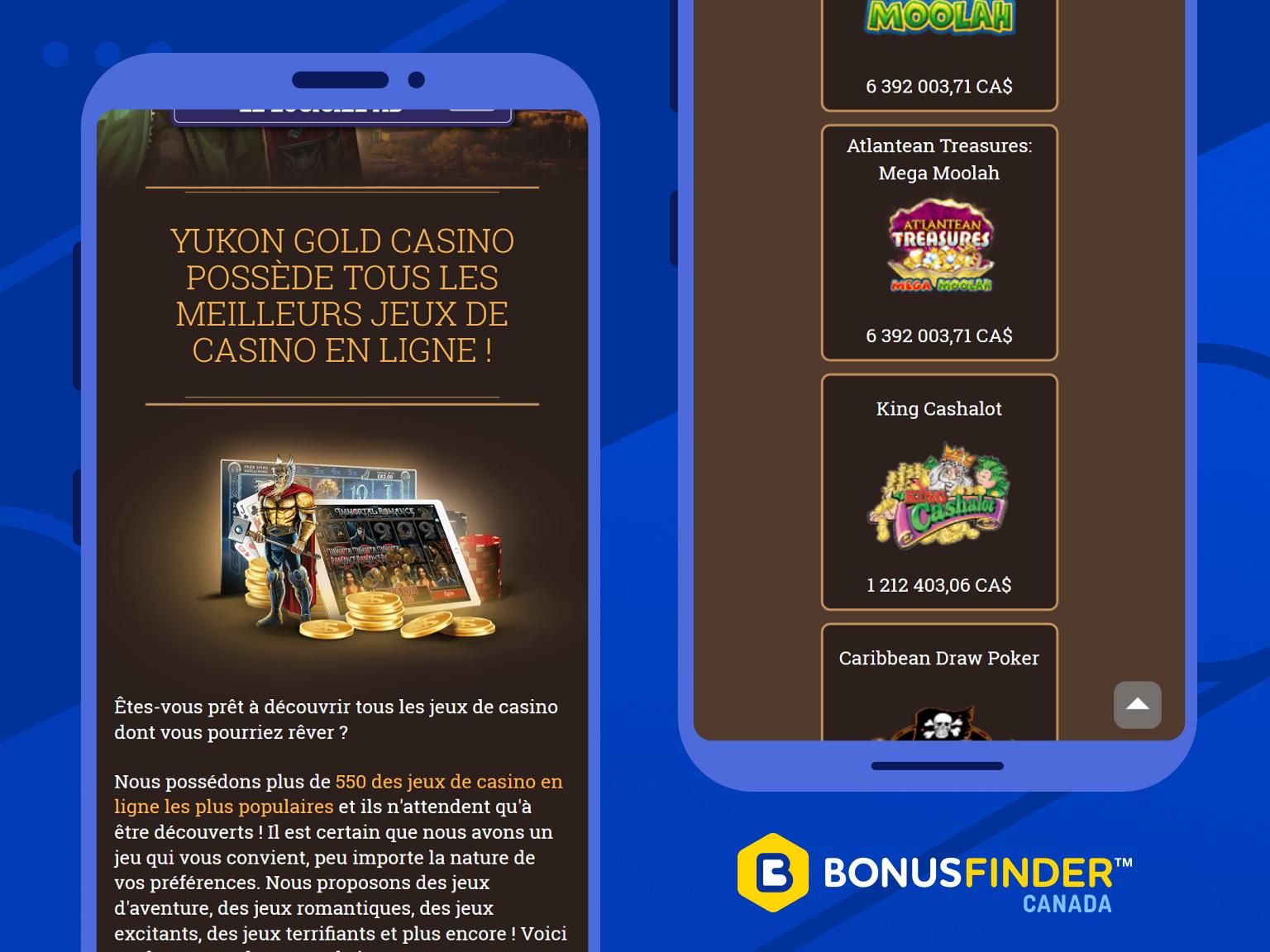 yukon gold casino jeux