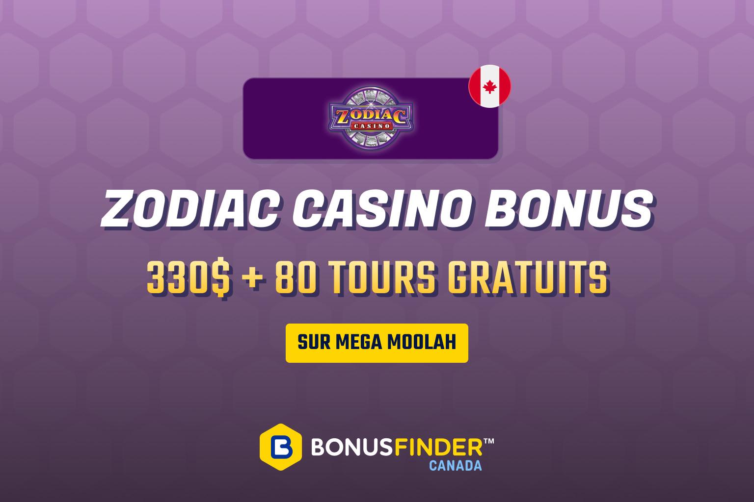 zodiac casino bonus