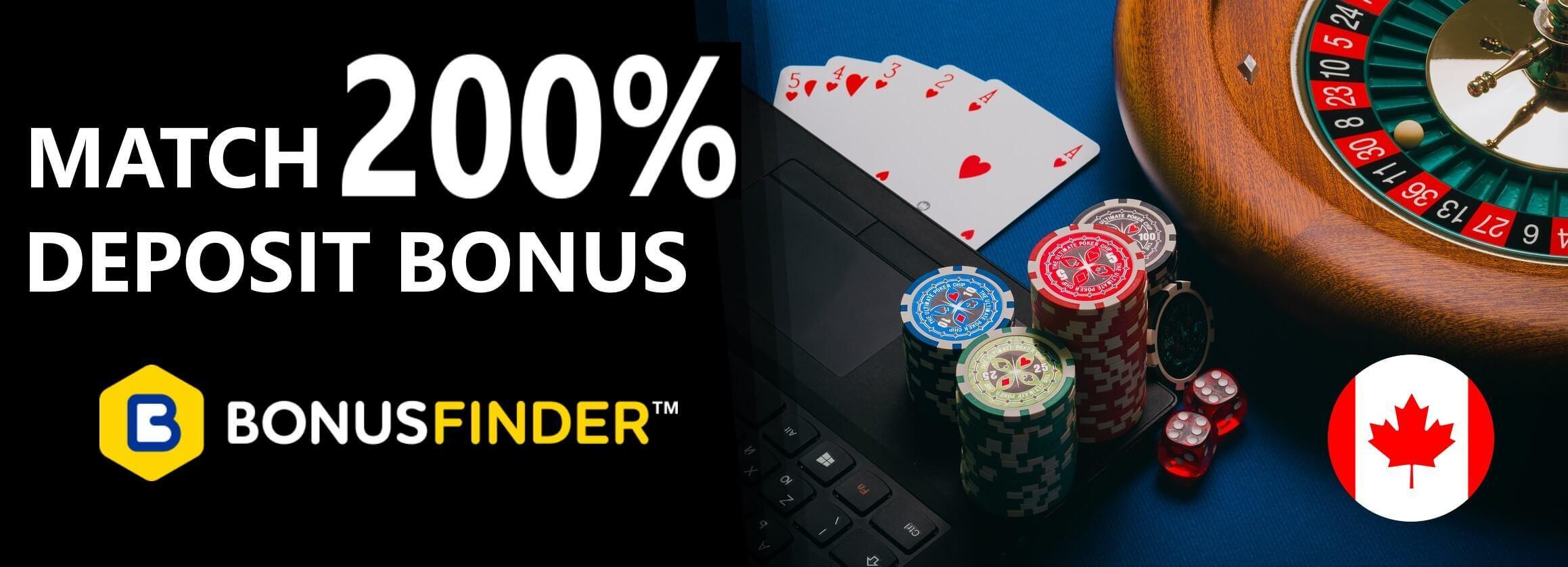 200% Deposit Bonus Canada