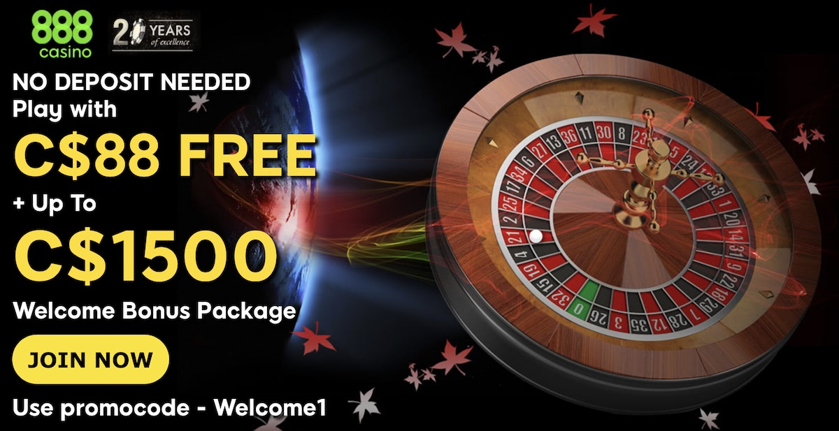 888 Casino Bonus Get 88 Freeplay 1500 Canada 2020