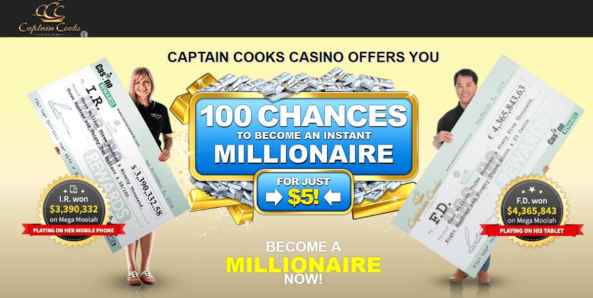 Captain Cooks bonus