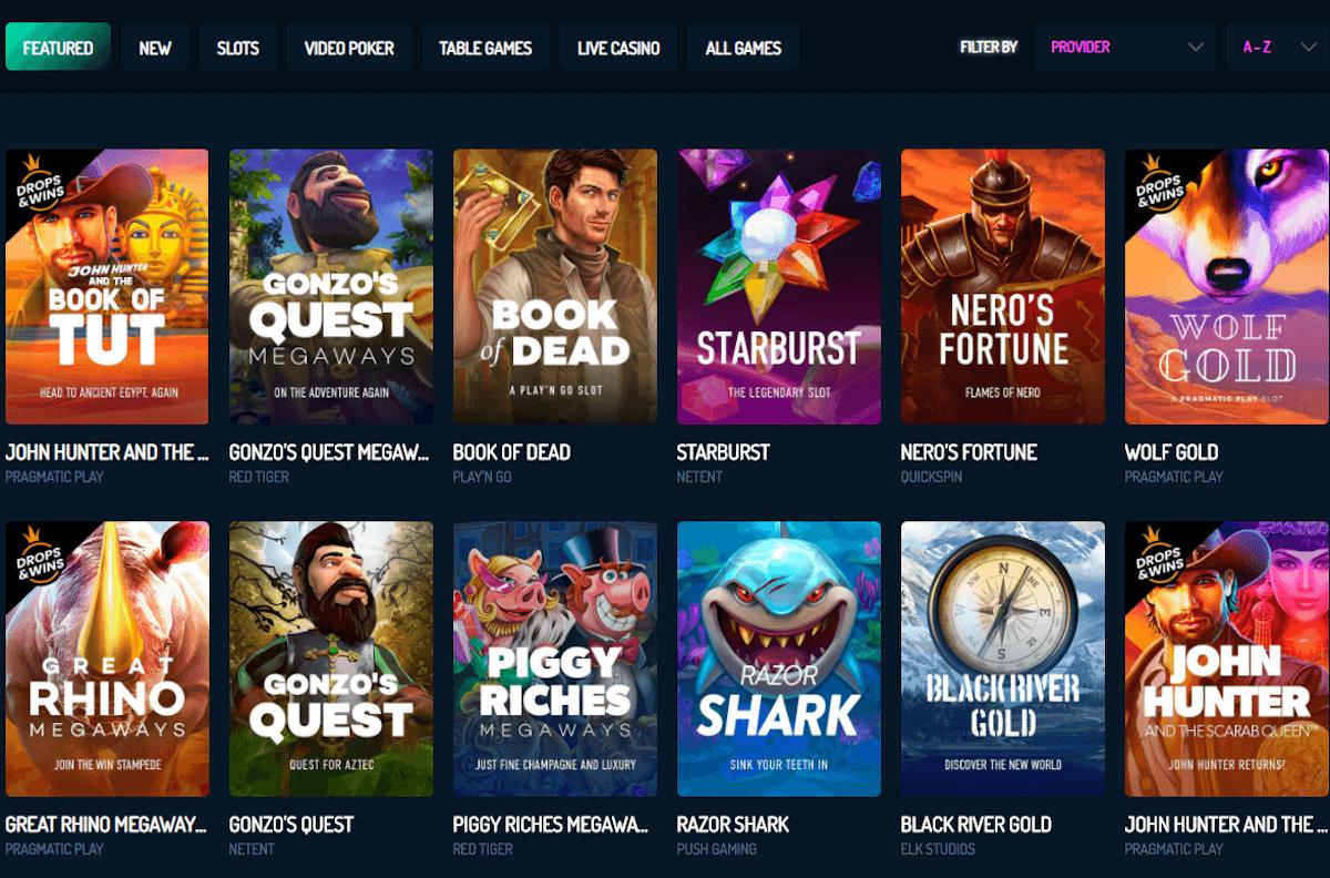 gaming options