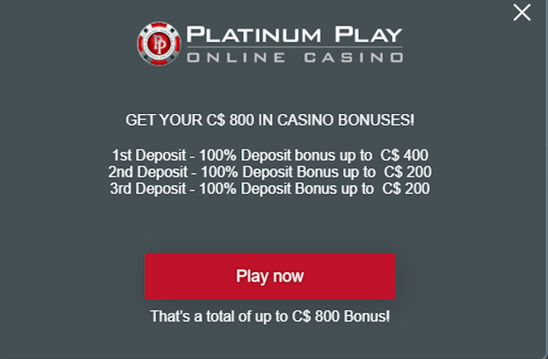 Platinum Play Bonus