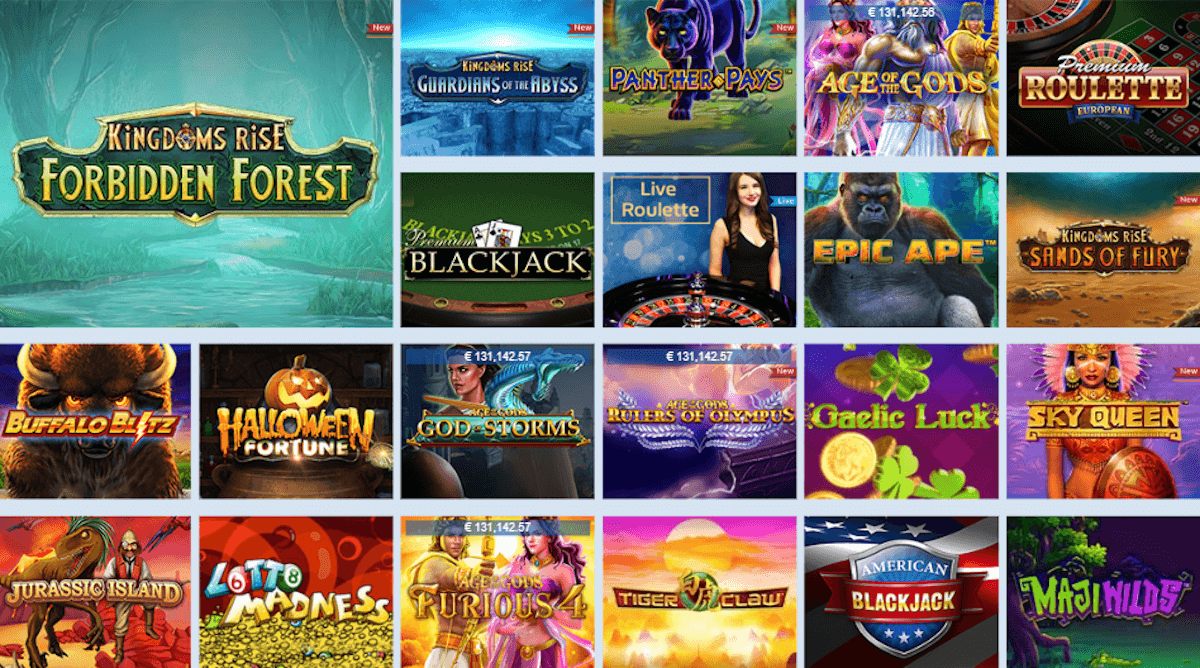 William Hill casino games