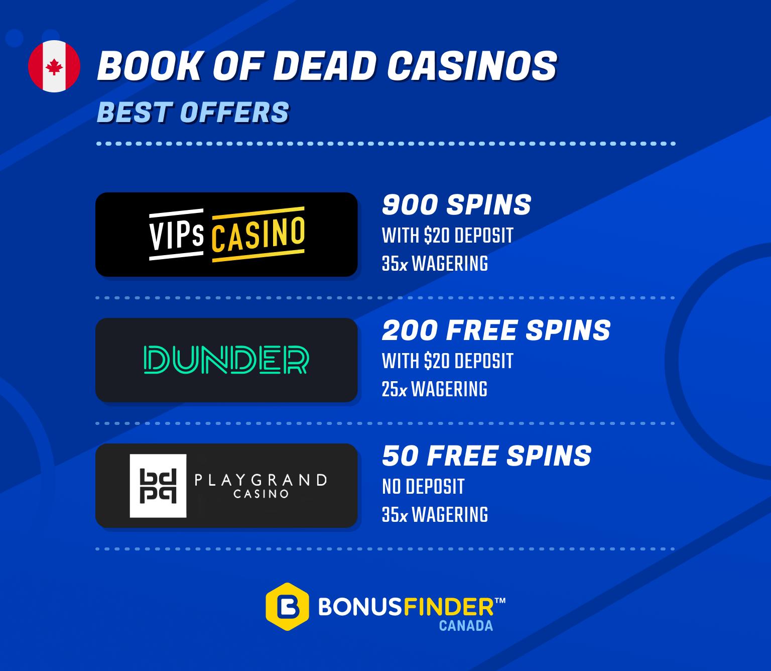 best canadian book of dead casinos