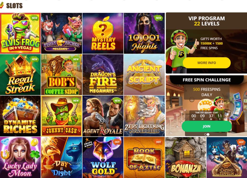 Slot game selection