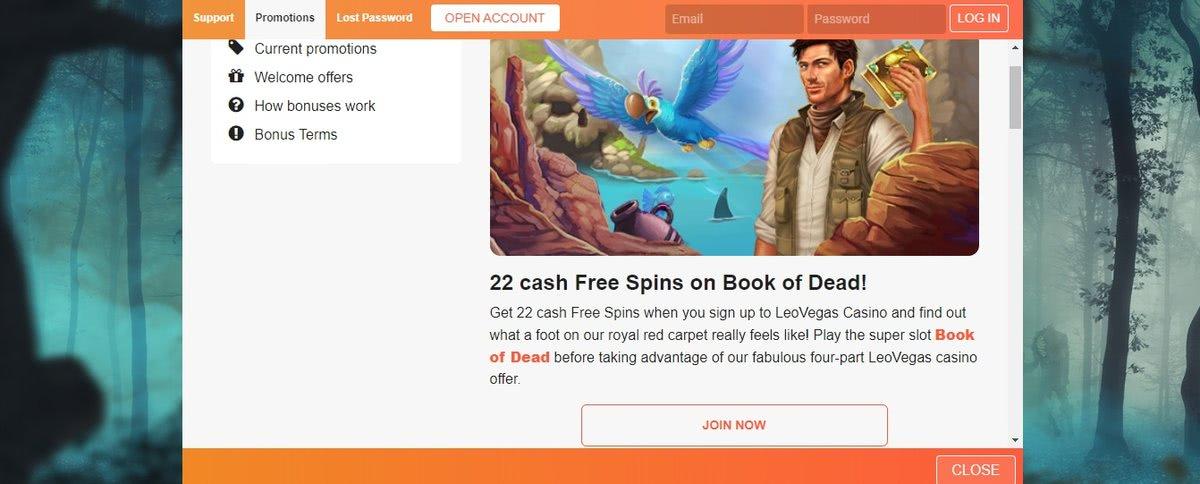 no deposit bonuses btg online casinos