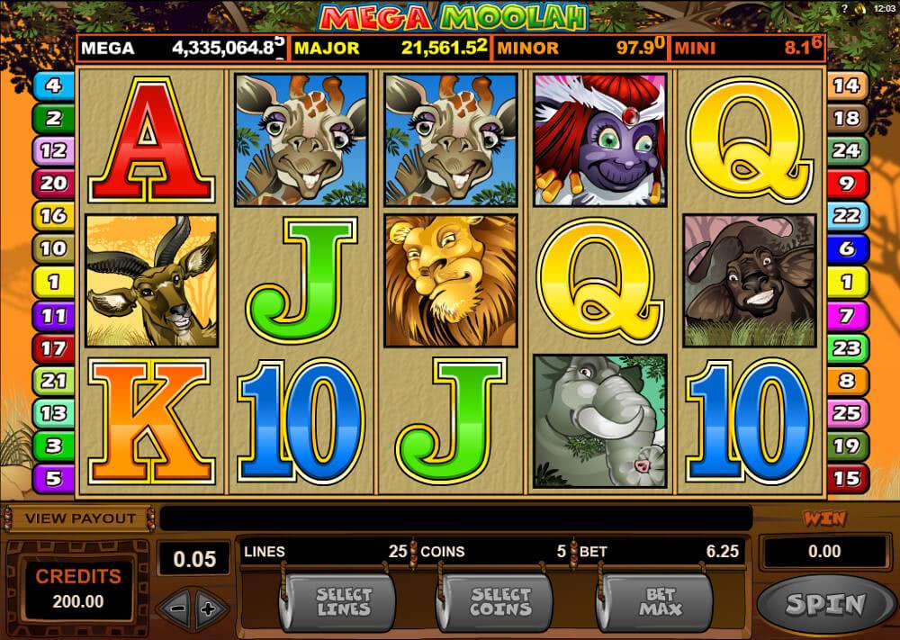 Mega Moolah at Casino Rewards