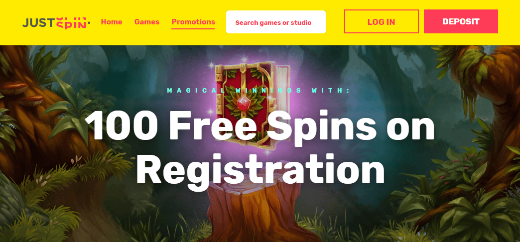 free spins on registration