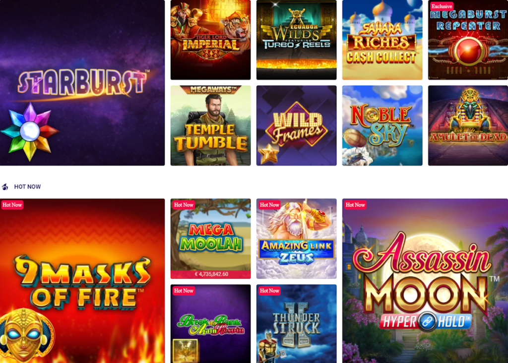 slot game options