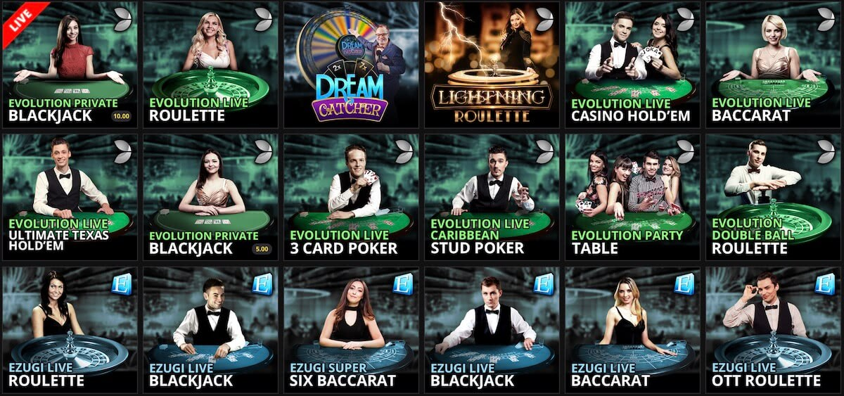 play the best live online casino games