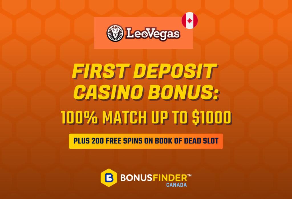 Best first deposit bonus casino Canada 2021