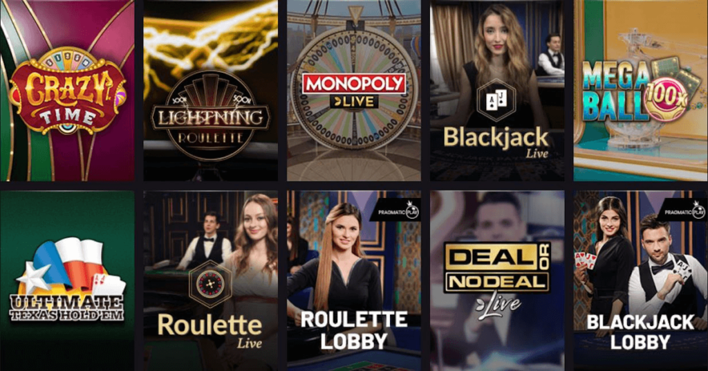 live casino options at PlayGrand