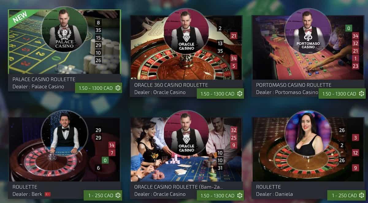 ezugi games at spin casino