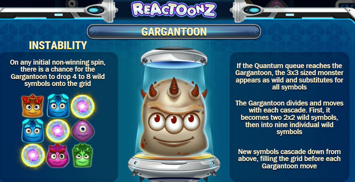 play reactoonz slot free