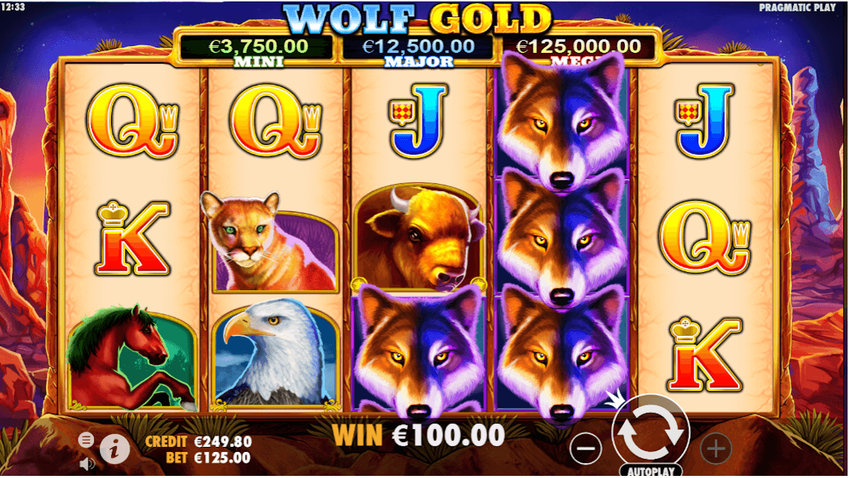 play wolf gold slot for free