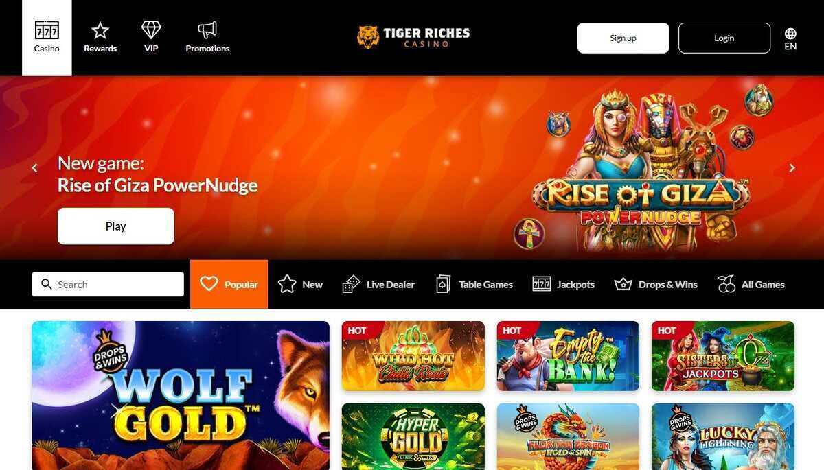 Tiger Riches Casino Canada