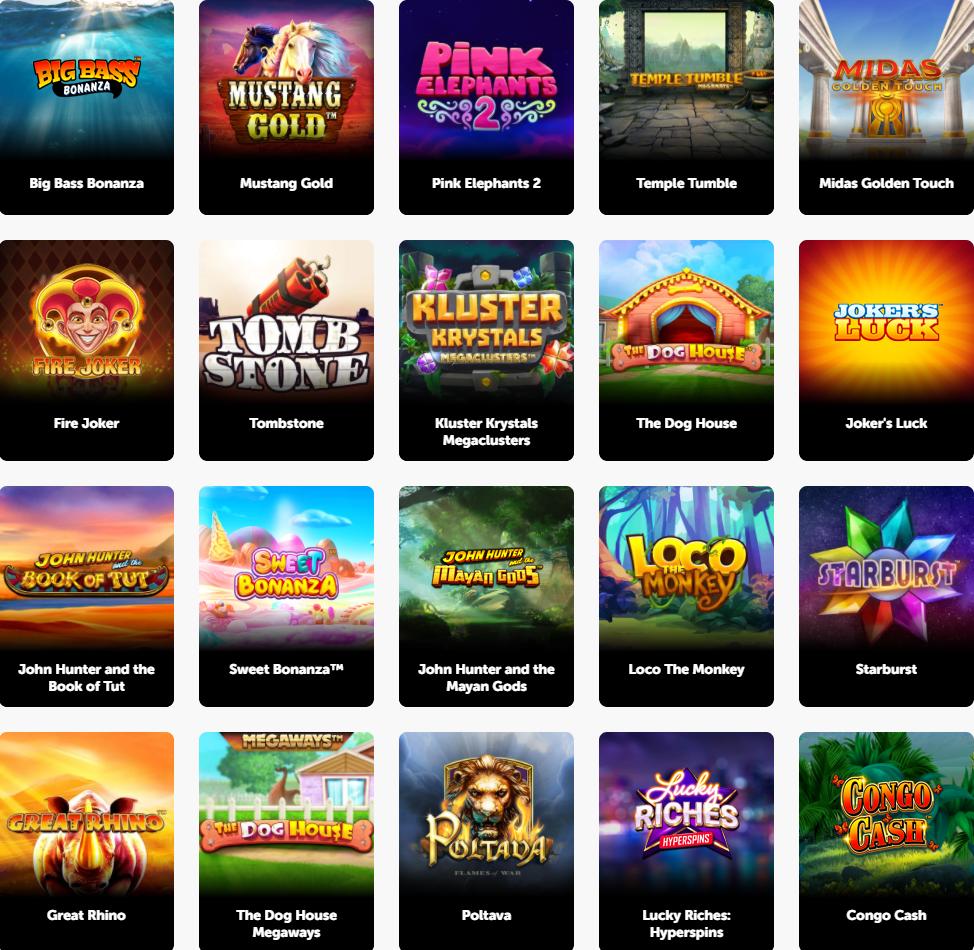 Pocket Play casino games