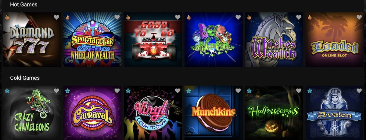 slots at Spin Casino