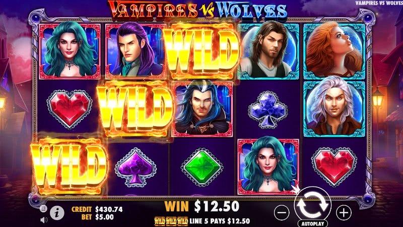 free spins vampires vs wolves
