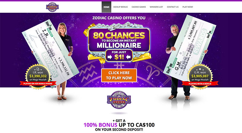 Zodiac Casino New Zealand Bonus